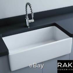 RAK Gwen 840 1.0 Bowl White Ceramic Belfast Kitchen Sink 840x455