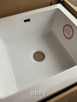 RAK KC23WH Handmade Single Bowl Ceramic Kitchen Sink in White NEW