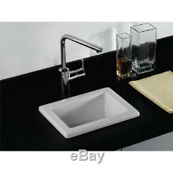 RAK Laboratory 1 Ceramic Belfast Kitchen Sink 1.0 Bowl 360mm L x 280mm W White