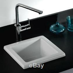 RAK Laboratory 2 Ceramic Belfast Kitchen Sink 1.0 Bowl 330mm L x 330mm W White