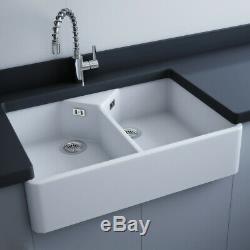 RAK Roma Belfast 900 2.0 Bowl White Ceramic Kitchen Sink 900x625