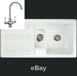 Rak Ceramic Gourmet 1 Mk 2 1.5 Bowl Farmhouse sink inc designer tap