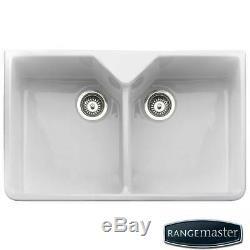 Rangemaster Belfast 2.0 Bowl White Ceramic Kitchen Sink CDB800WH