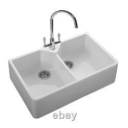 Rangemaster Double Bowl Belfast Ceramic Kitchen Sink