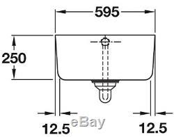 Rangemaster Farmhouse Ceramic Belfast Sink Single Bowl CFBL595WH Inc Waste Kit