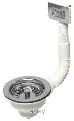 Rangemaster Nevada CNV1 White Ceramic 1.0 Bowl Kitchen Sink + Chrome Waste Kit