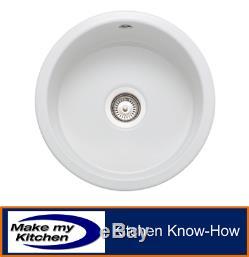 Rangemaster Rustique 1.0 Round Bowl Ceramic Inset / Undermount Sink CRUB385
