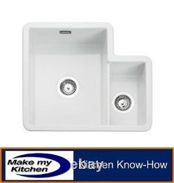 Rangemaster Rustique 1.3 Bowl Ceramic Undermount Sink CRUB3314