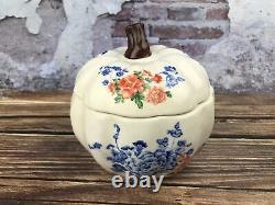 Rare Pioneer Woman 5.5 Floral Pumpkin Ceramic