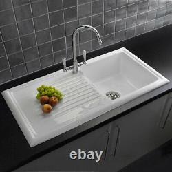 Reginox 1.0 Bowl White Ceramic Kitchen Sink & Waste Graded Refurbished