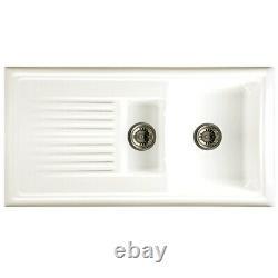 Reginox 1.5 Bowl Ceramic Sink Including New Reginox Tap