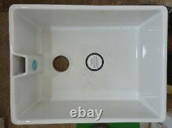 Reginox Belfast Ceramic Large Single Bowl Kitchen Sink Strainer Waste Included