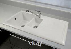 Reginox RL301CW Kitchen Sink- 1.5 Bowl, White