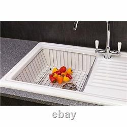Reginox RL304CW Ceramic Single Bowl Kitchen Sink Traditional White Reversible