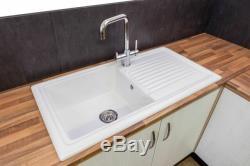 Reginox RL304CW Ceramic Single Bowl Kitchen Sink White