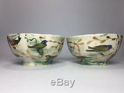 Set of 2 Ruan Hoffmann Anthropologie Dream Birds Serving Bowls Sold Out Style