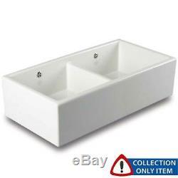 Shaws Classic Shaker 900 2.0 Bowl White Ceramic Belfast Kitchen Sink Grade B