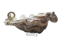 Shayne Greco Giant Clam Bowl with Octopus White