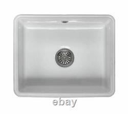 Single Bowl Ceramic Sink White