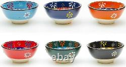 Small CERAMIC Bowls Set of 6 for Tapas Decorative Style Dishes Kitchen Gift Xmas