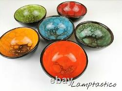 Small Ceramic Bowls Set of 6 Snack Bowls for Tapas, Dessert, Nuts, Olive, Soy