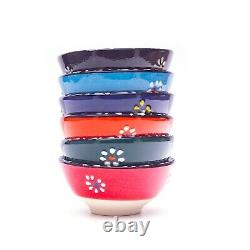 Small Ceramic Bowls Set of 6-Snack Bowls for Tapas, Nuts, Decorative, Style, Dishes