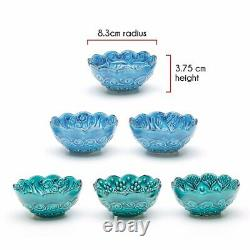 Small Ceramic Bowls Set of 6-Snack Bowls for Tapas, Nuts, Decorative, Style, Xmas
