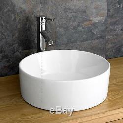 Solid Oak Bathroom 60cm Wide Vanity Furniture Unit Sink Cabinet Ceramic Bowl