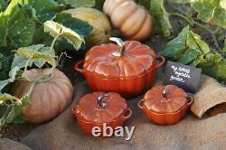 Staub set of 4 Petite pumpkin Cocotte Serving