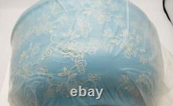 Temp-tations Sky Blue Floral Lace Concentric Nesting Bowl Set Lids Discontinued