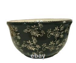 Temptations floral lace 5 piece concentric nesting bowl set lids black RARE NEW