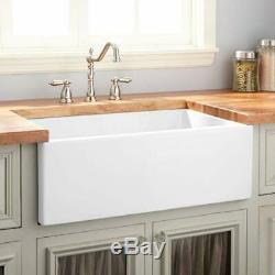 Traditional Gloss White Belfast Butler Kitchen Sink 755mm x 455mm 1.0 Bowl