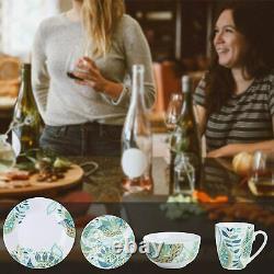 VEWEET Elina 32pc Dinner Set Cereal Bowls Porcelain Kitchen Dessert Plates Mugs