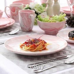 Vancasso 32pcs Porcelain Tableware Set Pink Dinnerware Serving Plates Bowls Mugs