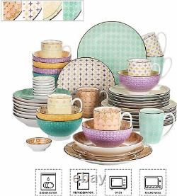 Vancasso 48 Tulip Tableware Set Crockery Serving Dinner Plates Bowls Mugs Dishes