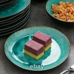 Vancasso Aqua 36pc Set Dinner Stoneware Serving Dish Dessert Plates Cereal Bowls