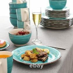 Vancasso Bella 32x Kitchen Dinner Set Porcelain Ceramic Dessert Plates Bowl Mugs