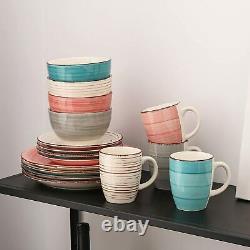 Vancasso Bella 4 Colours Dinner Set Handpainted Ceramic Service Plates Bowls Mug