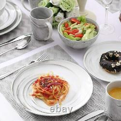 Vancasso Clay Grey 32pcs Porcelain Tableware Set Dinner Dessert Plates Bowl Mugs