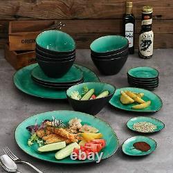 Vancasso Coco 22pcs Dinner Set Stoneware Bowls Side Dish Saucers Serving Platter