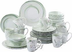 Vancasso DINNER SET TABLEWARE SERVICE PLATES BOWLS Plates PORCELAIN 4/16/32 Sets