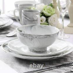 Vancasso Grey Dinner Dining Set Tableware Service Plates Bowls Cups 4/16/32 Sets