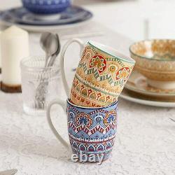 Vancasso Mandala 32x Multi-colour Crockery Set Ceramic Plates Bowl Mug Tableware