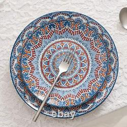 Vancasso Mandala Turquoise Plates Bowls Crockery Dinner Set Dinnerware 32pcs