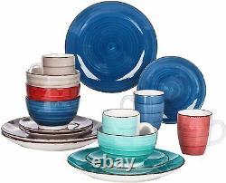 Vancasso Multi-colour Crockery Set Kitchen Tableware Dinner/Dessert Plates Bowls