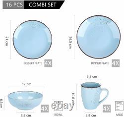 Vancasso NAVIA Ceramic Tableware Set Dinnerware Service Plates Bowls Mugs Blue