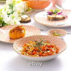Vancasso Natsuki 48x Dinner Set Vintage Porcelain Kitchen Plates Bowls Mugs Dish