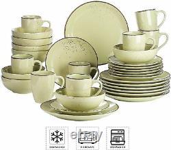 Vancasso Navia 32pc Yellow Green Porcelain Dinner Set Kitchen Dining Plates Bowl