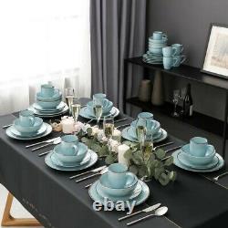 Vancasso Navia 48-Pieces Porcelain Dinnerware Set Dinner Plate, Dessert, Soup 12