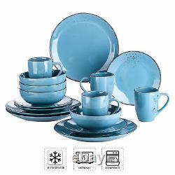 Vancasso Navia Sea Blue Porcelain Dinner Set Stoneware Tableware Plates Bowls
